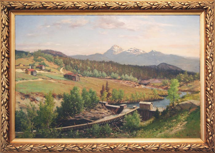 Malerier med ramme